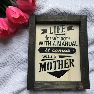 Hand Crafted | Life/Mom Sign Home Decor